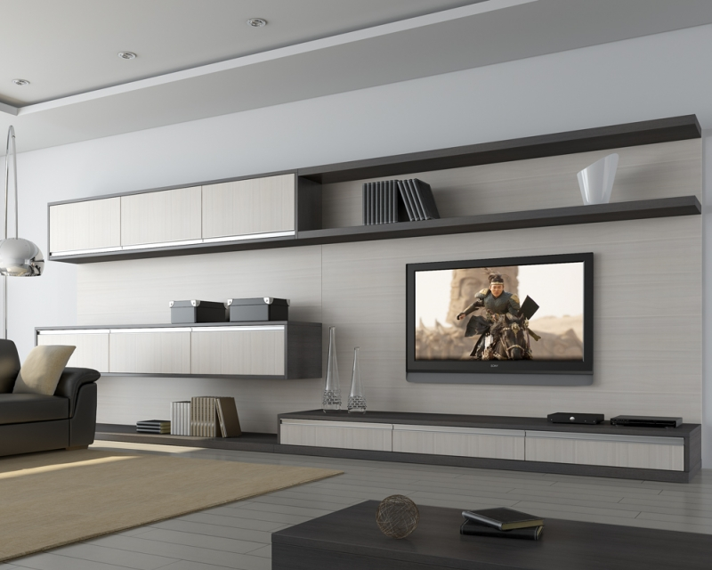 Home Theater Roble Gris- Cherry